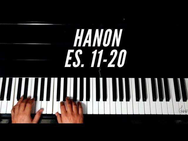 Tecnica pianistica: appoggio e dinamica consigli ed esempi pratici. Hanon esercizi 11-20 no stop.