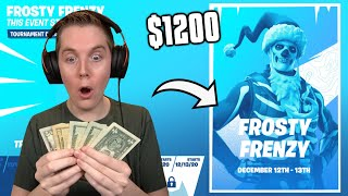 How I Won $400 In Frosty Frenzy! - My First Fortnite Earnings!