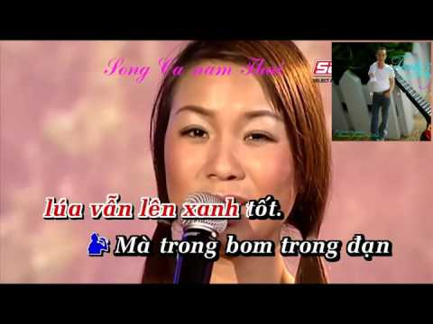karaoke nang am que huong song ca nam Thai