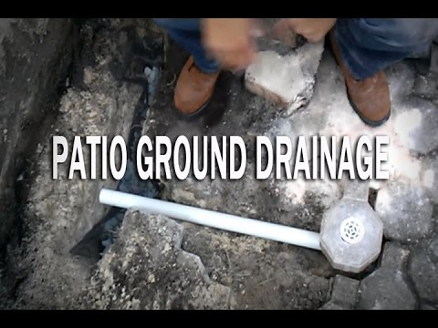 Patio Ground Drainage With Pvc Youtube