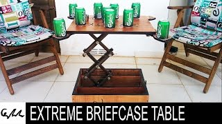 Extreme briefcase table
