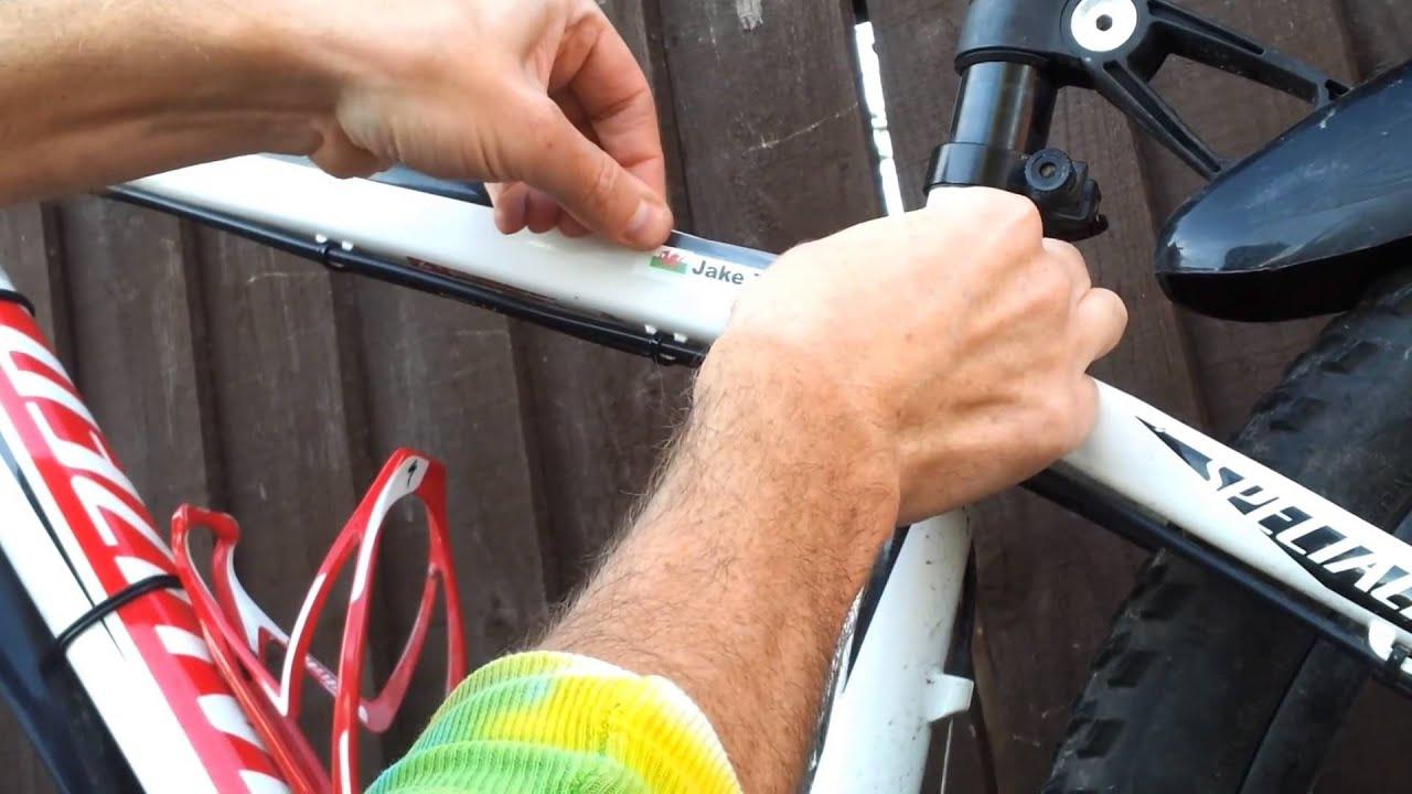 Armario Antiguo Restaurado ~ Como aplicar autocolantes com o seu nome no quadro da sua Bike YouTube
