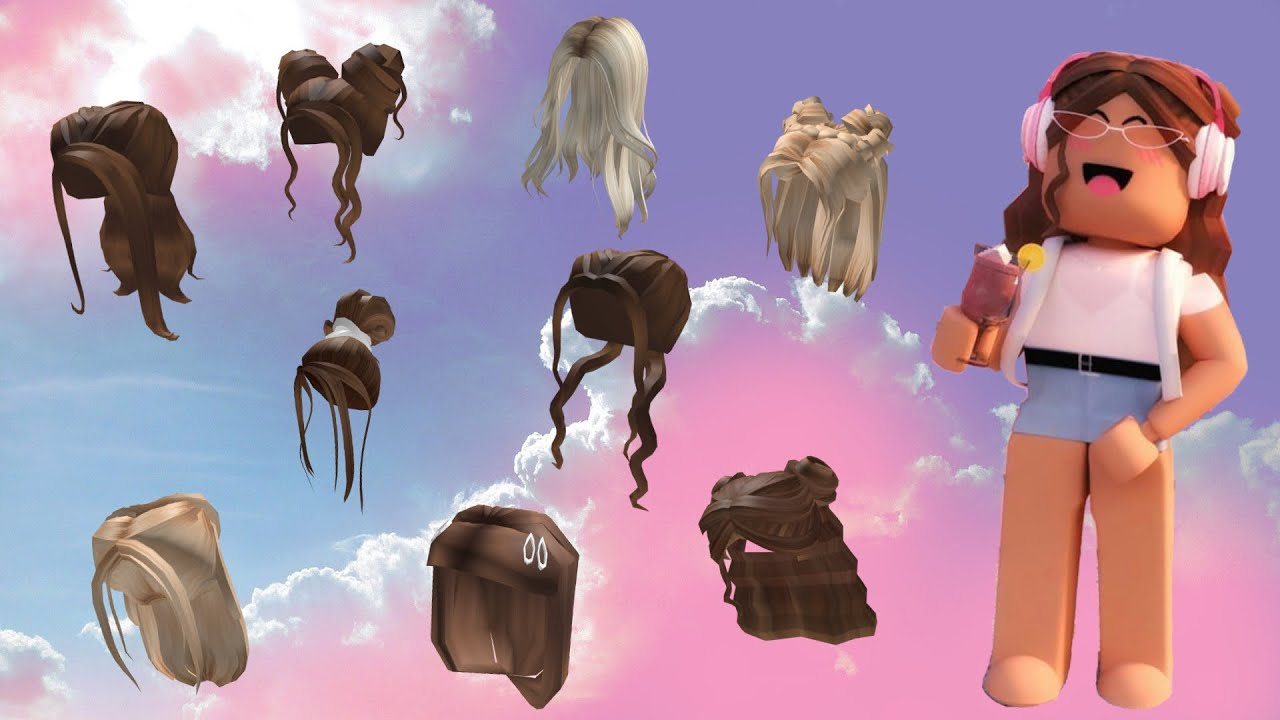 Codes For Aesthetic And Cute Hairs Roblox Teehee Youtube