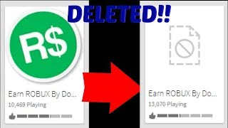 THIS FREE ROBUX GAME WAS GETTING DELETED BY ROBLOX WHILE I WAS RECORDING... (Don't Try This!)