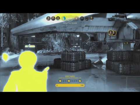 Star Wars Battlefront Heroes vs. Villains on Endor (Imperial Landing Pad) (HD 60FPS)