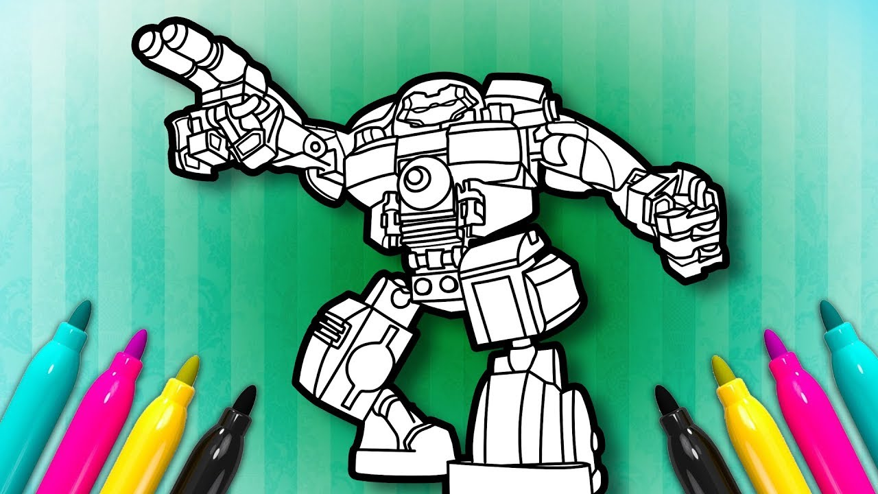6 Lego Avengers Malvorlagen: IRONMAN Hulkbuster Coloring Page