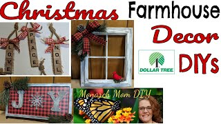 DOLLAR TREE CHRISTMAS FARMHOUSE DECOR DIY WALMART HOBBY LOBBY THRIFT STORE ITEMS