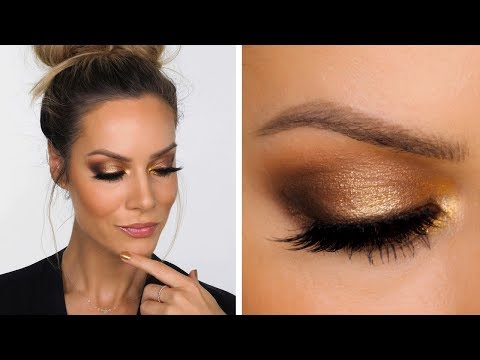 Gold Smokey Makeup Tutorial | Shonagh Scott