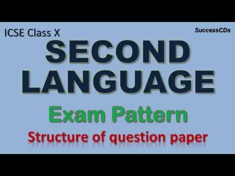ICSE Class X Second Language Exam Pattern and Marking Scheme