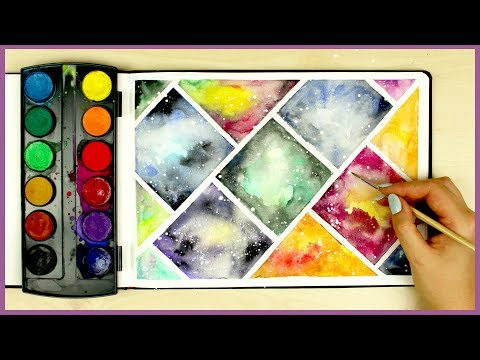 How to Paint a Galaxy using Cheap Watercolors! Art Journal Thursday Ep. 14