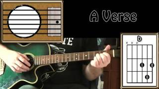 It's Hard To Be Humble - Mac Davis - Acoustic Guitar Lesson (easy)