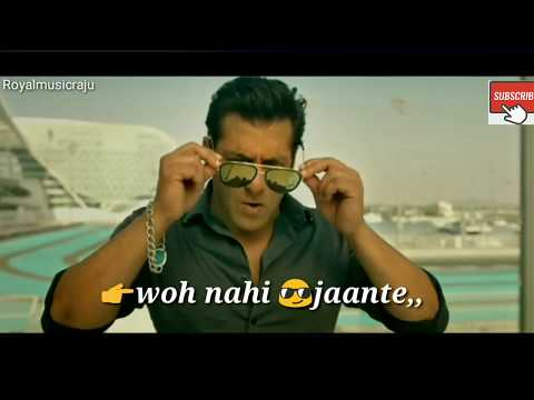 Race 3 salman Khan dialogue  WhatsApp...