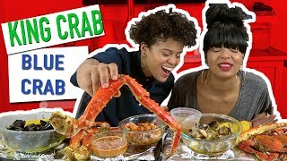 "SEAFOOD BOIL MUKBANG FEAST + ""QUESTIONING OUR LOVE??"" (ft KING CRAB, BLUE CRAB, MUSSELS, CLAMS)"