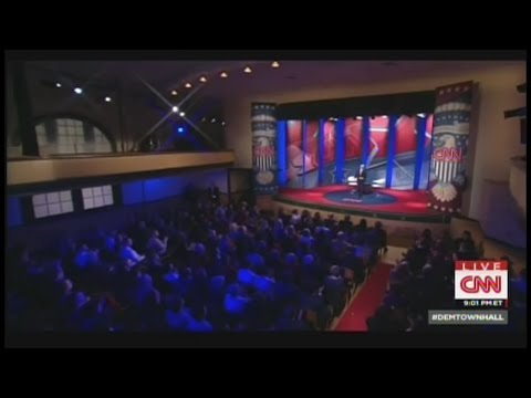 Fifth Democratic Primary Town Hall - February 3 2016 on CNN