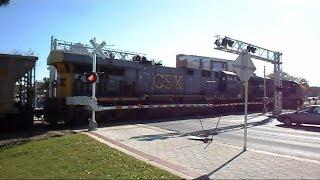 CSX Teco Coal Train Goes Through New Quad Crossings