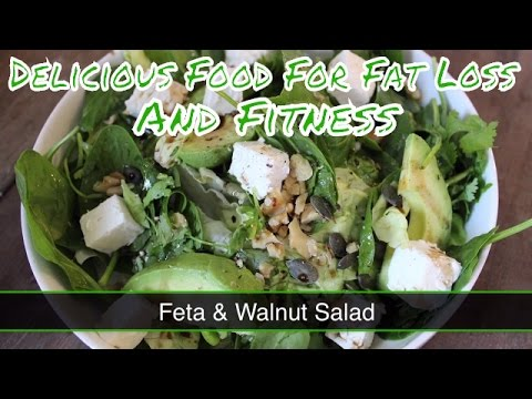 Health Food For Fat Loss And Fitness - Feta and Walnut Salad