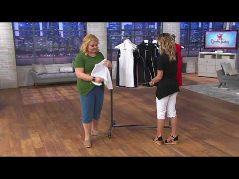 Quacker Factory French Terry Zip Front Vest and Skort Set on QVC