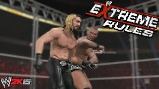 WWE 2K15 Gameplay - Combates al Extremo en Extreme Rules, Ultimo Hombre en pie y jaula de acero