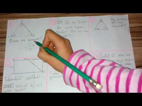 4. sınıf açılar soru çözümü