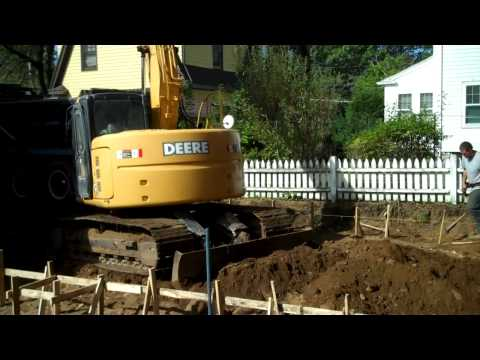 Excavating and Forming a pool