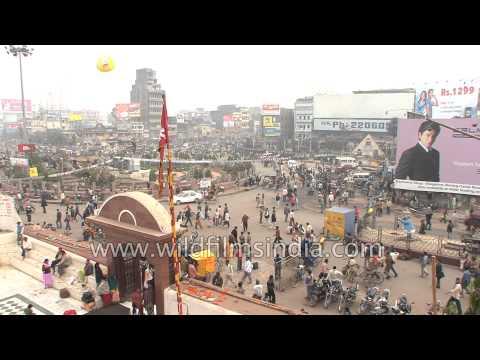Bustling streets of Patna city, Bihar