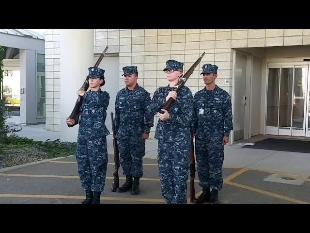 Naval Health Clinic Honor Guard Practice 26JUL2017