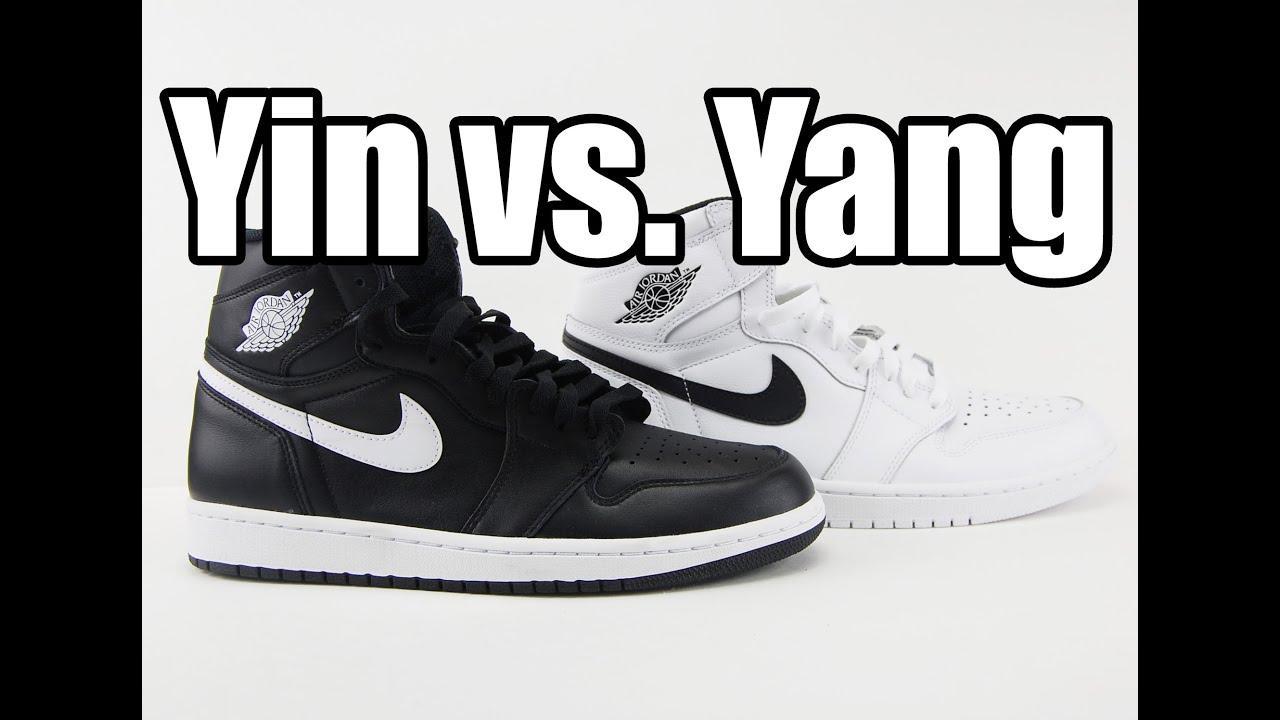 newest e05e1 81e9c Yin vs. Yang Air Jordan 1 Retro High OG (Premium Essentials) Comparison