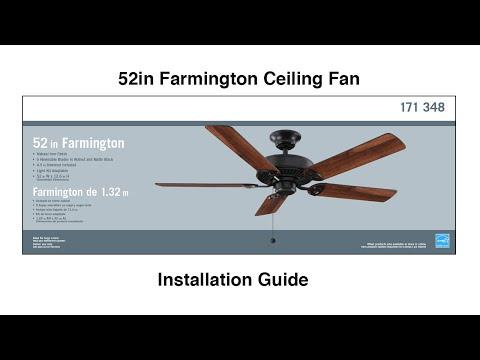 How to install the Farmington Ceiling fan