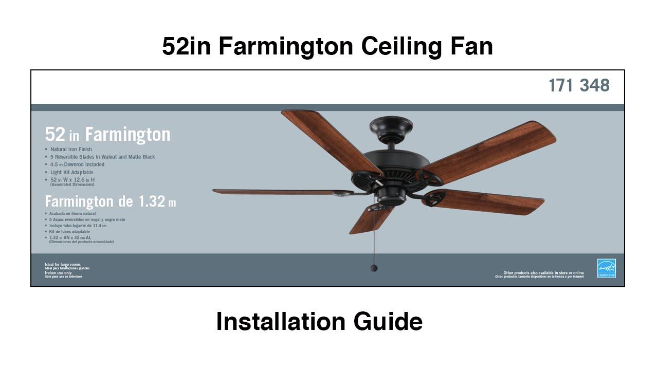 How To Install The Farmington Ceiling Fan Youtube Wiringceilingfan1jpg