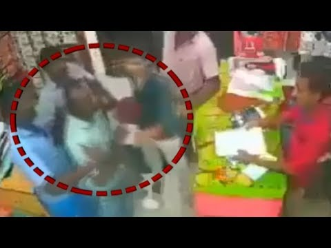 Caught on camera: Goons assault shop owner after he refuses to give donation