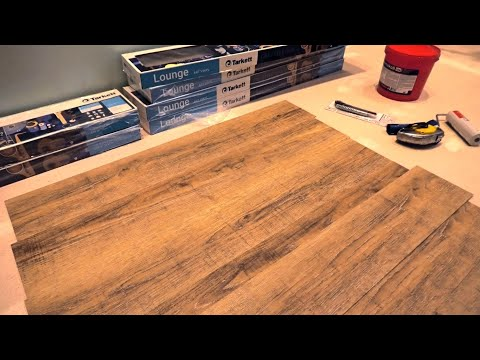 ПВХ плитка на пол. Напольное ПВХ покрытие вместо ламината или линолеума.  Art Vinyl Tarkett, LOUNGE