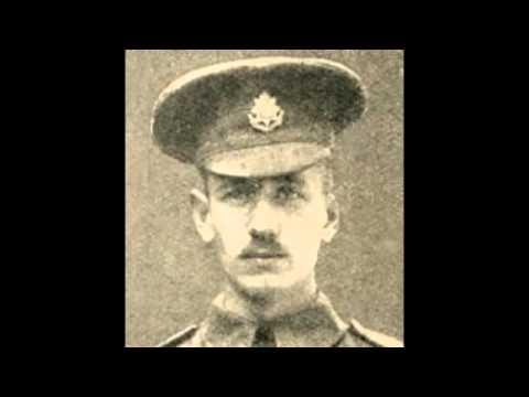 British soldier Edward Dwyer sings