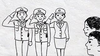 【結婚式サプライズ】警察官さんが作った感動のパラパラ漫画ムービー
