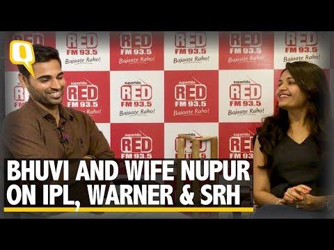 SRH vice captain Bhuvneshwar Kumar and Wife Nupur On IPL 11