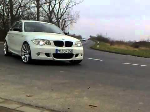 White BMW 1 series, M package + 19 e87