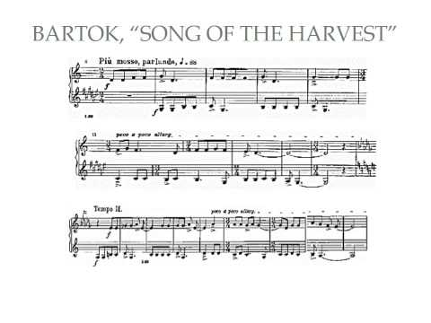 "Form in Bartok's ""Song of the Harvest"""