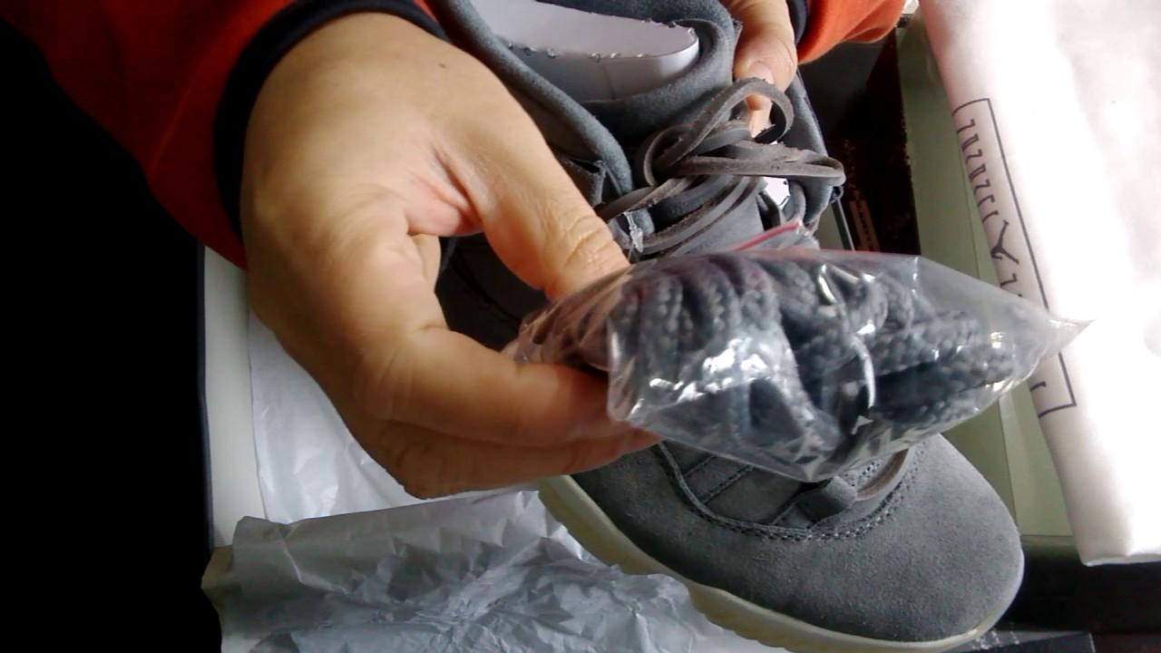 Jordan 11 grey suede - YouTube 3beeeb67c