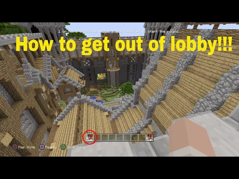 How to get out of New Lobby in Minecraft