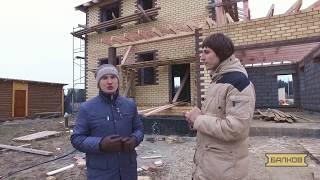 видео Cтроительство домов из пеноблоков с облицовкой кирпичом. Ооо фортик