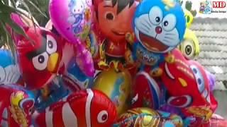 balonku ada lima   mainan balon karakter upin ipin  pokemon  masha  boboiboy  nemo  doraemon