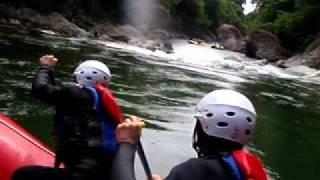 ラフティング水上(春) 諏訪峡