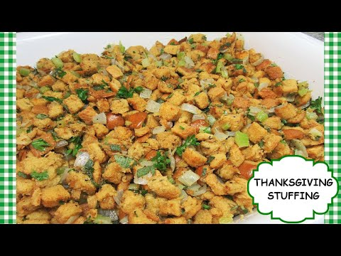 How to Make Classic Holiday Stuffing ~ Easy Bake Homemade Dressing Recipe