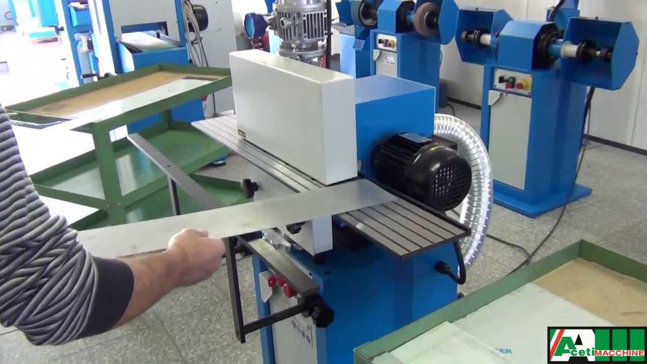 Sheet Metal Deburring Machine Art 37 Aceti Macchine