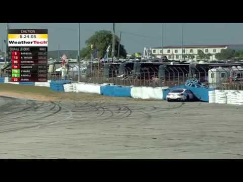 IMSA WeatherTech SportsCar Championship 2017. Twelve Hours of Sebring. Nick Catsburg Crash