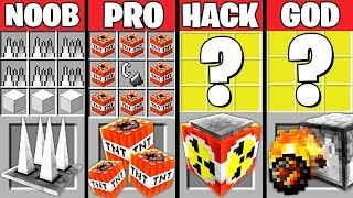 Minecraft Battle: SUPER TRAP CRAFTING CHALLENGE - NOOB vs PRO vs HACKER vs GOD ~ Minecraft Animation