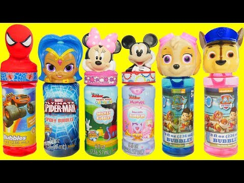 Learning Colors for Kids with Paw Patrol Skye & Chase Jail Bath time