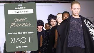 Catwalk Hair: Sleek Ponytails At Xiao Li For London Fashion Week AW16
