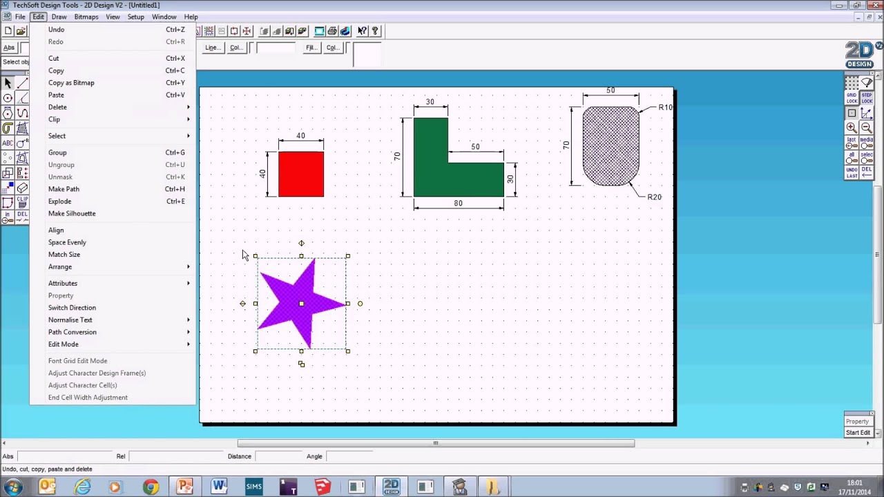 Techsoft 2d design v2 basics drawing skills youtube for 2d design online