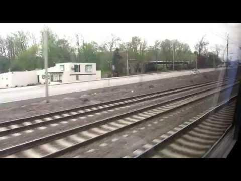 Amtrak Pennsylvanian train ride from Phildalphia to Harrisburg.