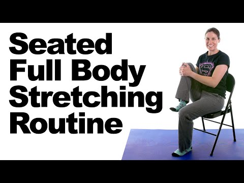 Relaxing Full Body Stretching Routine for Stress \u0026 Anxiety Relief, Seated